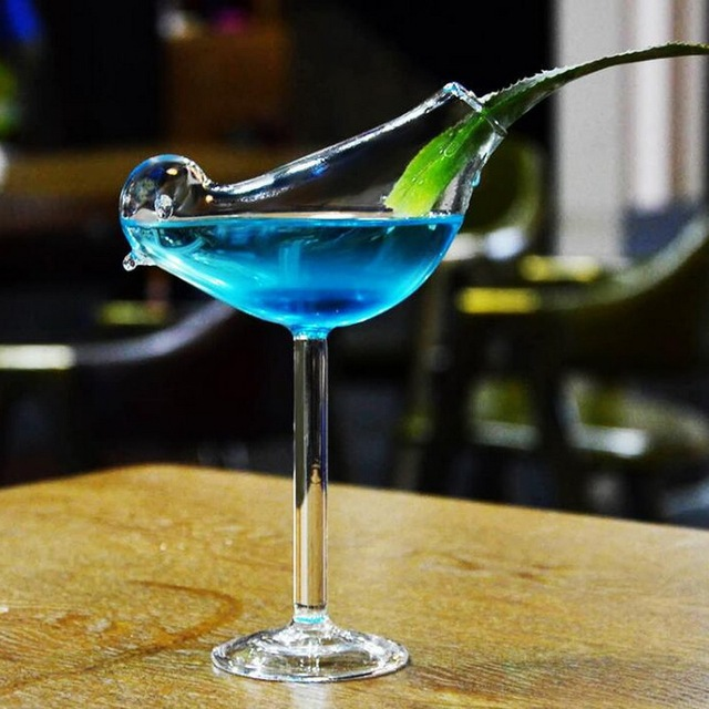 Creative Bird Shaped Cocktail Glass