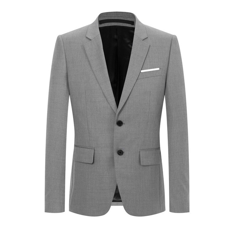 2018 New style coats Men's casual fashion single breasted high quality blazers men jackets, Men's business blazers