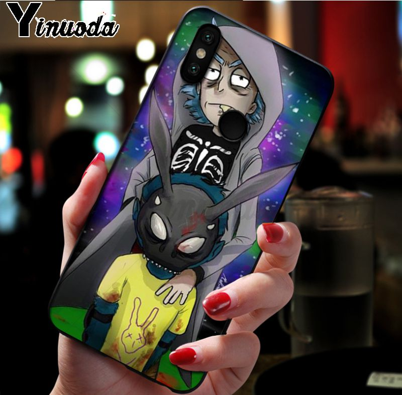 Ynuoda Cartoon Rick And Morty Novelty Fundas Phone Case Cover for xiaomi mi 8 se 6 note2 note3 redmi 5 plus note5 Cover in Half wrapped Cases from Cellphones Telecommunications