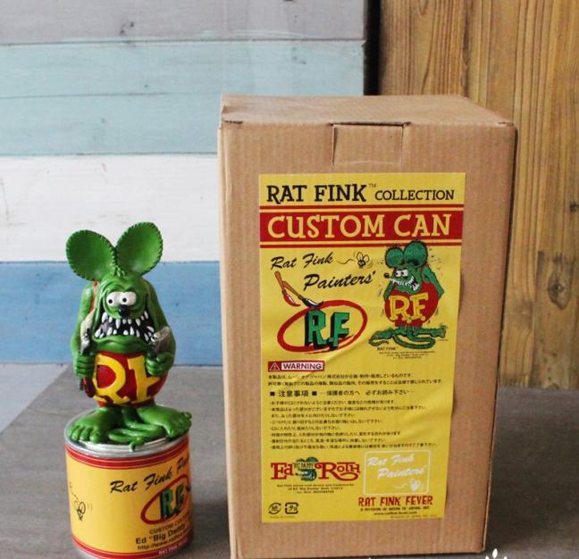 21*8 cm PUNK RF Rat Fink personnalisé peut Action Figure décoration poupée avec boîte terreur dessin animé Halloween porte-clés d12