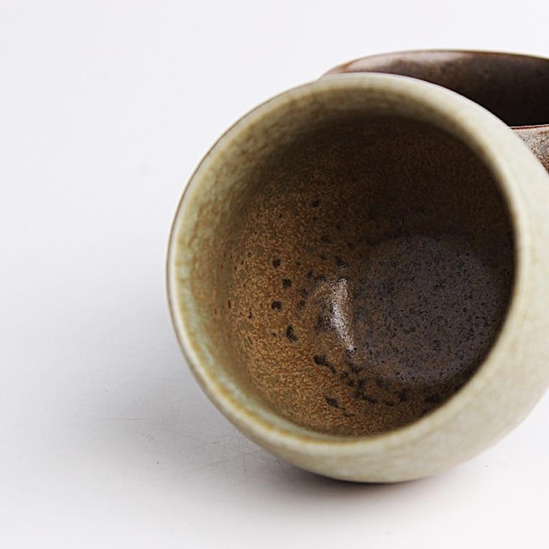 Gaya jepang Drinkware Kuno Kiln Kasar Tembikar Cangkir Teh Keramik - Dapur, ruang makan, dan bar - Foto 3