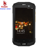 Original AGM A8 American version IP68 Rugged Tough Waterproof Phone Android 7.0 3GB RAM Qualcomm MSM8916 Quad Core 13.0MP