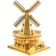3D aleación tridimensional modelo de juguete molino de viento holandés  puzzle DIY montado artesanía formación capacidad 58bf54009c1