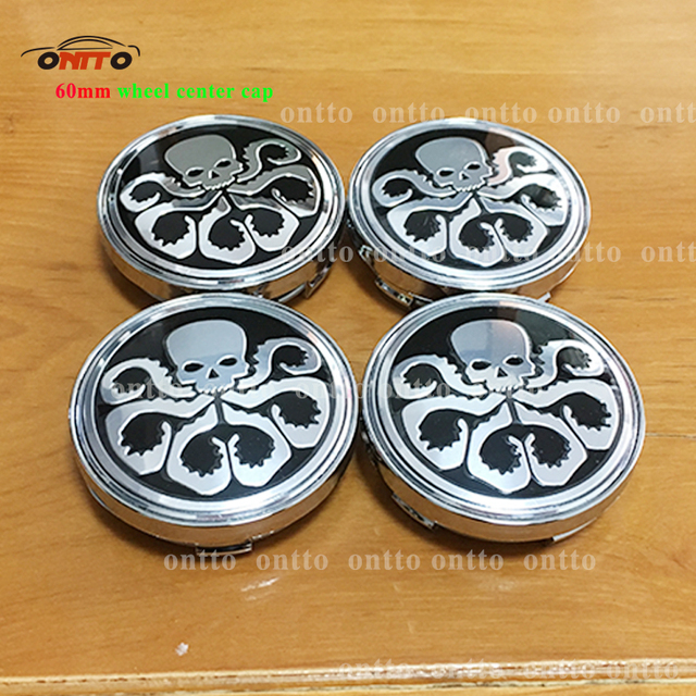 4pc 56mm hydra marvel universe aluminum wheel center hub sticker squidward car wheel center cap badge