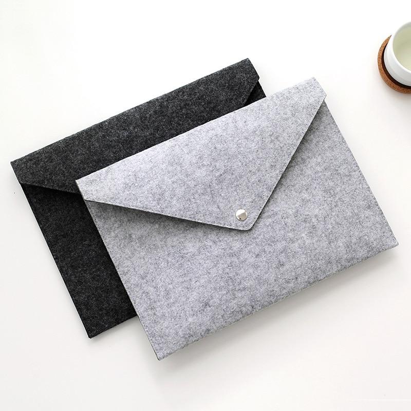 A4 Business Felt Document Bag File Bag Large Capacity Briefcase Storage File Folder School Office Supply