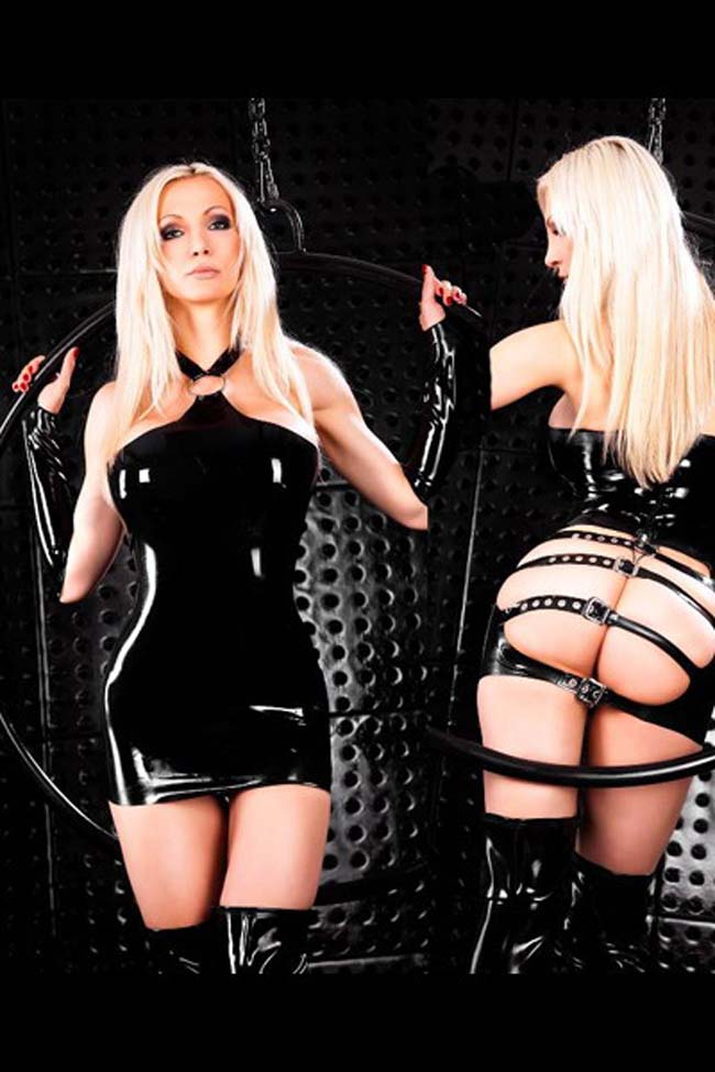 Simply tight latex and leather lingerie easier