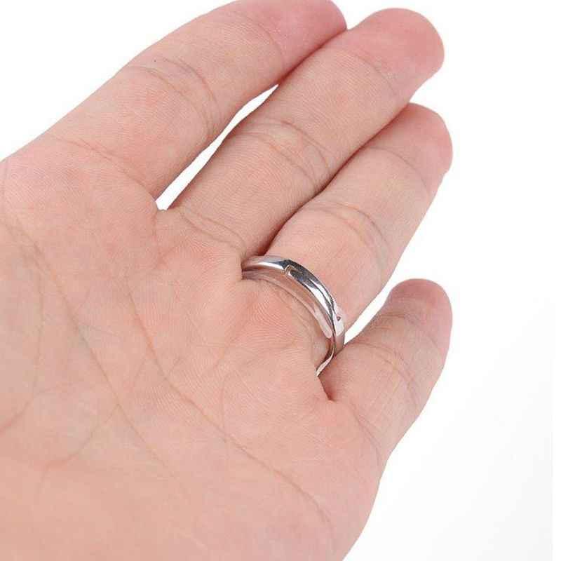 12 個目に見えないリングのサイズアジャスター緩いリングサイズ減速スペーサーリングガード