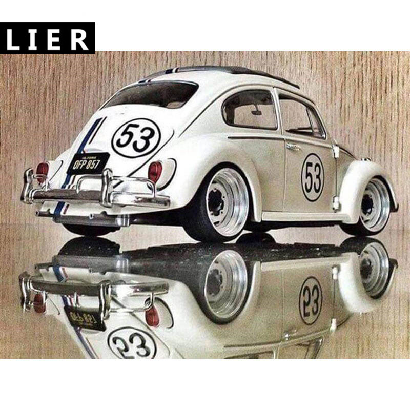 5D DIY Diamond embroidery Classic car from Volkswagen complete square diamond embroidery stitch diamond painting Beetle Car in Diamond Painting Cross Stitch from Home Garden