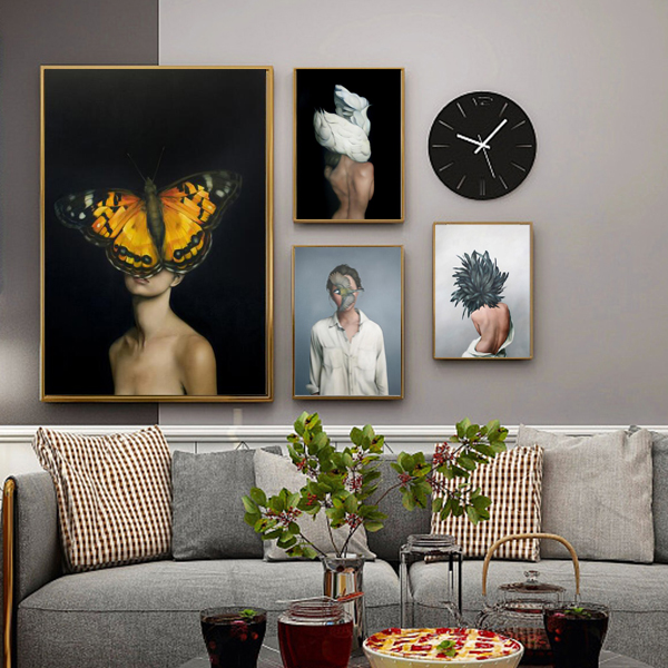 Family bedroom decoration modern art canvas painting no picture frame art collection gallery hotel decoration new home gift sale in Painting Calligraphy from Home Garden