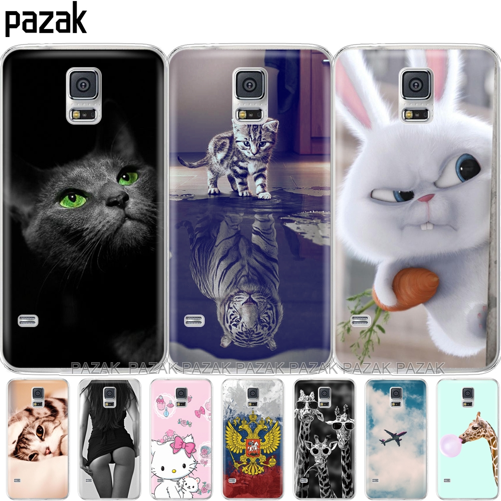 378293aa2af Soft Silicone case For Samsung Galaxy S5 Cases Cover Capa phone shell
