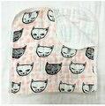 Nueva impresión suave Estupendo 100% de Muselina de algodón de gasa 3 capas bebé toalla de baño del bebé recién nacido pañuelo toalla de cara toalla de mano pequeña toalla