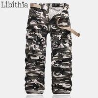 Men's Casual Cargo Pants 8 Pocket Standard Streetwear All season Trousers Men Clothes Camouflage T146