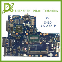 For Lenovo Ideapad S410 LA A321P Laptop Motherboard S410 With I5 Cpu Mainboard 100 Tested