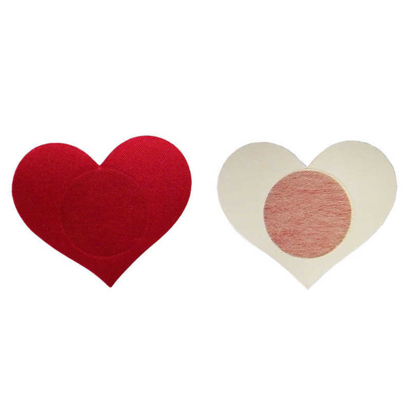2pcs Sexy Heart-shaped Breast Petals for Women Formal Dress Lingerie Breast Bra Nipple Cover Pasties Stickers Accessories