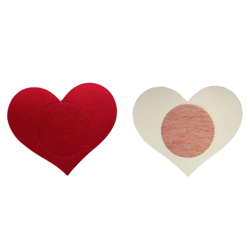 2pcs Sexy Heart-shaped Breast Petals for Women Formal Dress Lingerie Breast Bra Nipple Cover Pasties Stickers Accessories(China)