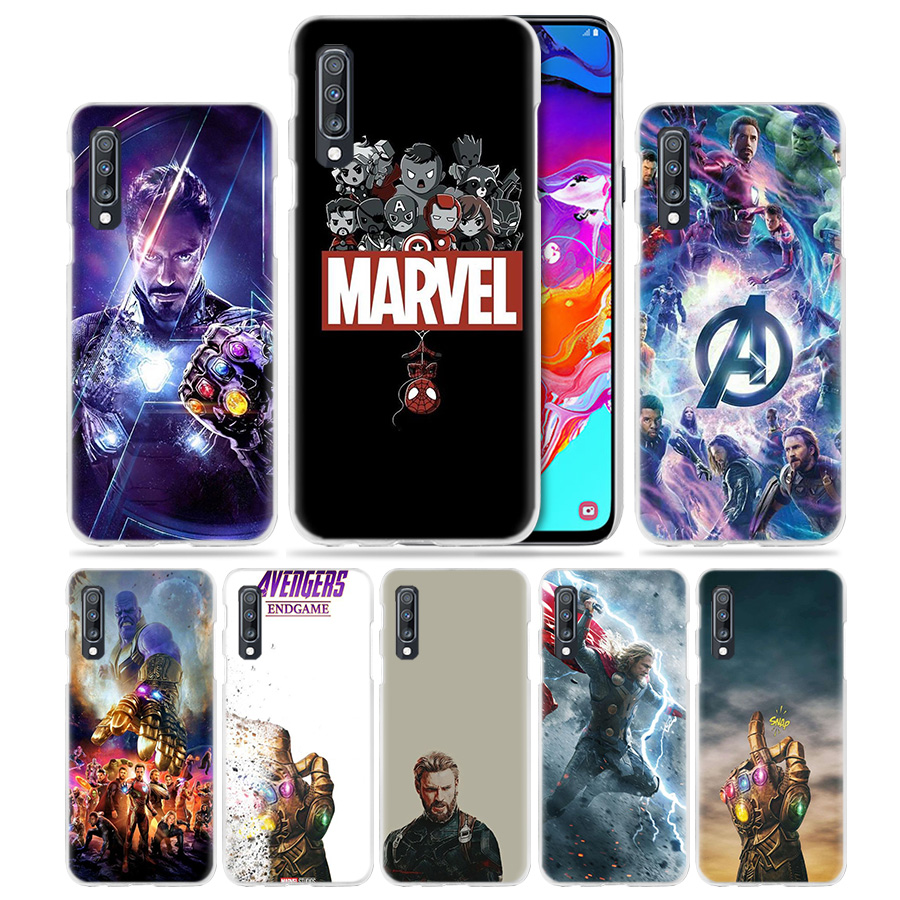Marvel Avengers Comics Case for <font><b>Samsung</b></font> Galaxy A50 A70 A20e A60 A40 A30 A20 <font><b>A10</b></font> A8 A6 Plus A9 A7 2018 Hard PC Phone <font><b>Coque</b></font> Cover image