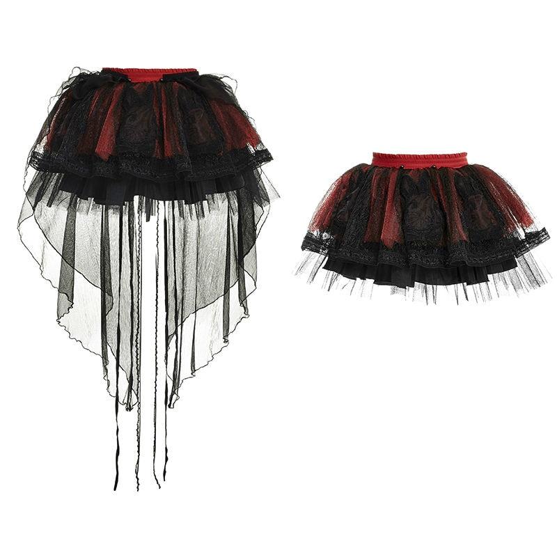 Gothique amp; B Mini Bulle Jupe Japonais Punk Lolita Dentelle Mode R Lq072 Harajuku De Rave wSfUqxYp