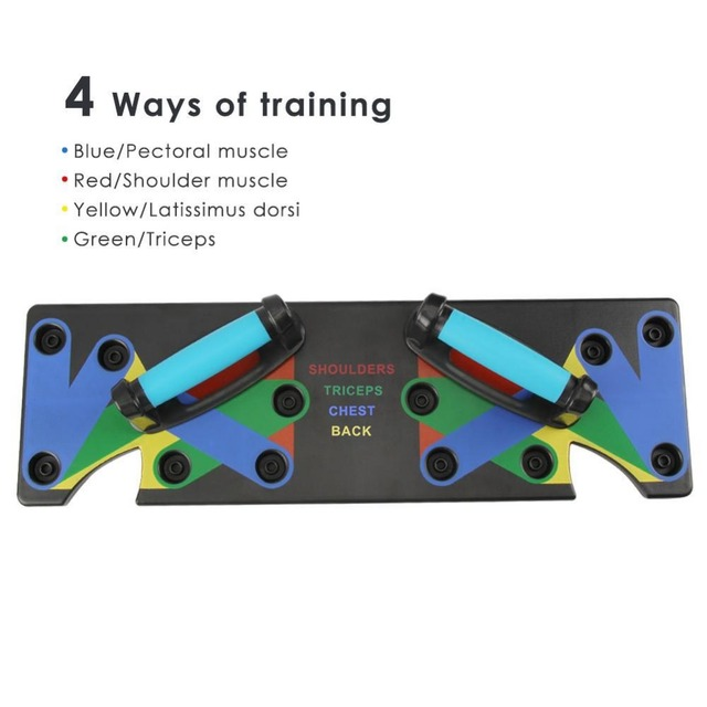 Push Up Rack Board Balance Board System Fitness Equipment Exercise Push-up Rack Stands Body Building Training with Handles 4