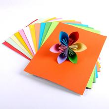 100Pcs Mix Color Multifunction A4 Crafts Arts Paper Office School Supplies New Candy Color Handmade Paper