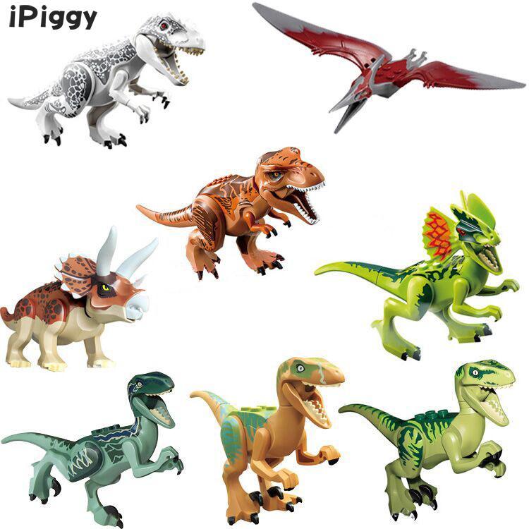 8pcs/lot Mini Block Building Blocks Baby Education Jurassic World Dinosaur Bricks Toys For Children Kids Birthday Gifts 77001 Strengthening Waist And Sinews Toys & Hobbies