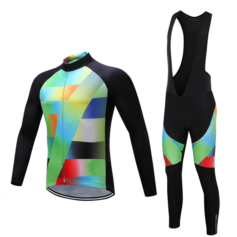 High quality Long Sleeve Man Cycling Clothes Sets MTB Racing Bike Clothing Kits Pro Team Sports Wear Male Bicycle Jersey Uniform top quality racing cycling club pink stripe cycling jerseys pro team tight fit long sleeve cycling clothing bicycle shirt