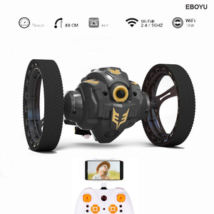 EBOYU aktualizacja RH805A 2.4G WiFi FPV 720P kamera HD RC skoki samochód skok wysoki samochód kaskaderski muzyka reflektory LED RC sprężysty samochód prezent zabawka