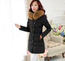 2016 China New Fashion Women Winter Coat Hooded Fur collar Big yards Slim Down jacket High-end Women Thick Super Warm Coat G2263