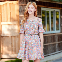 2018 Rushed Zanzea Women Dress New Products Led To Receive A Word Waist Han Edition Horn