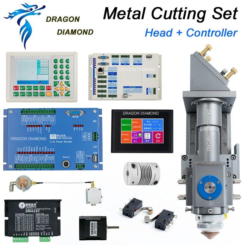 CO2 Laser Cutting Head For Metal Non-Metal Mixture laser machine + Ruida 6332M + Living Focus System