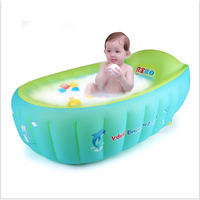 Newborn bath inflatable portable bath tub baby cushion Warm winner keep warm Portable bathtub With Air Pump Free gift