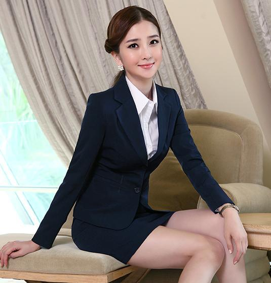 Friendly 2019 Formal Elegant Spring Summer Womens Gray Blue Suit Jacket Female Suits Blazers Office Uniforms Ladies Business Work Wears Suits & Sets