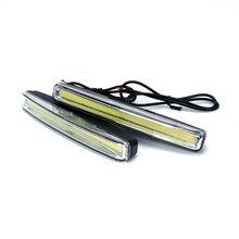 2 шт. стайлинга автомобилей ультра яркий светодиодный габаритные огни DC 12 В водостойкий автомобиль DRL COB вождения Туман лампа
