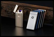 5ชิ้น/ล็อตขายส่งบุคลิกภาพบุหรี่ชาร์จUsbเบาwindproofบางเฉียบอิเล็กทรอนิกส์สำหรับสูบบุหรี่arcชีพจร