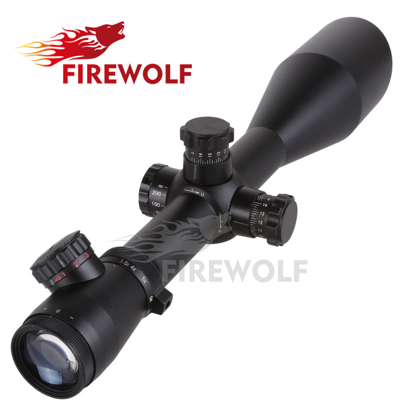 FIRE WOLF M1 3.5-10X60 Tactical Optics Riflescope Red&Green Dot Reticle Fiber Sight Rifle Scope 30mm Tube fire maple sw28888 outdoor tactical motorcycling wild game abs helmet khaki