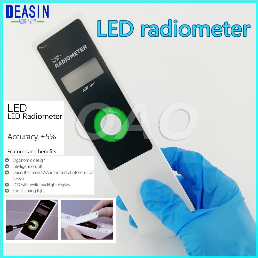 LED radiometer curing intensity Battery with LCD screen NEW brand Dental CURING LIGHT METER Visible dental led curing light whitening tip curing light cordless 12x15mm 10x15mm