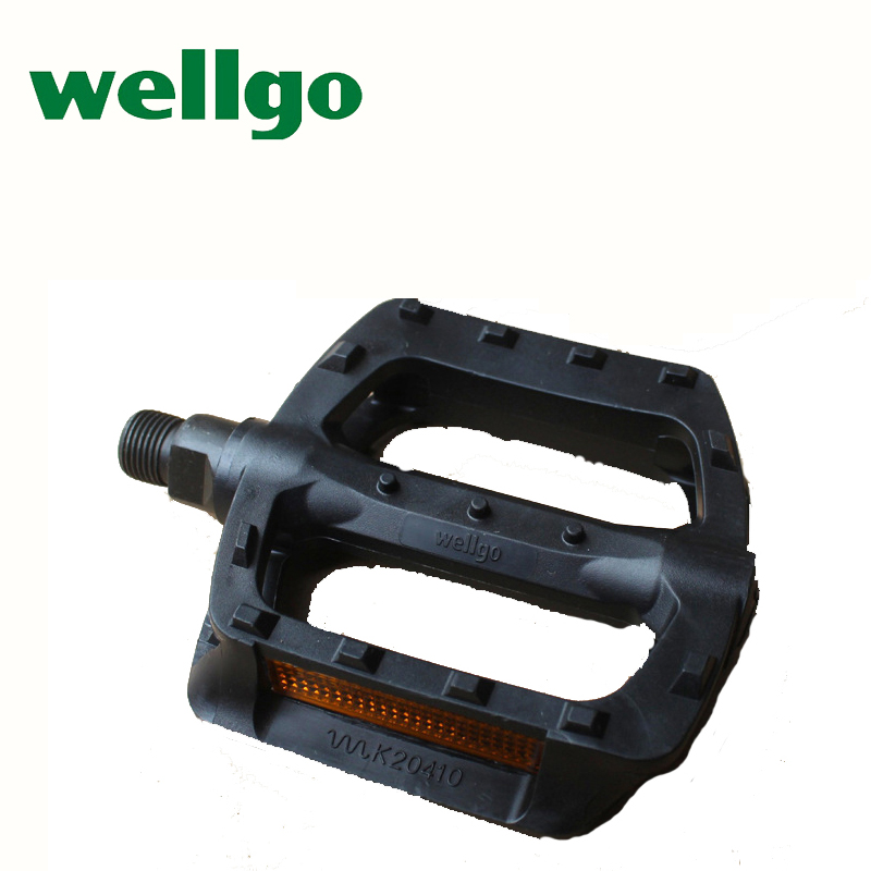 Wellgo MTB BMX ultralight plastic pedals mountain bike double DU bearing bicycle pedal road bicycles equipment black big pedal