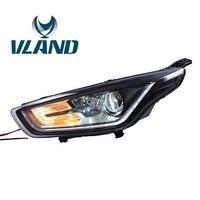 VLAND завода производителя для автомобиля фара для Ford Escort 2015 2016 светодиодный бар фар DRL H7 ксеноновая лампа Plug And Play 12 V & 35 Вт