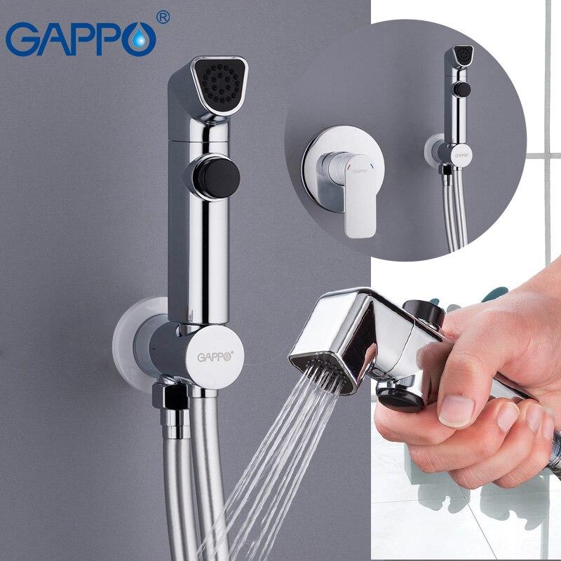 GAPPO bianco clistere soffione doccia musulmano toilette Bidet doccia spruzzatore igienico doccia montaggio a parete bidet portatile