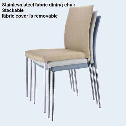 Stainless Steel dining Chair Creative Modern Simple Home Fabric dining Chair dining chair the lounge chair creative cafe chair