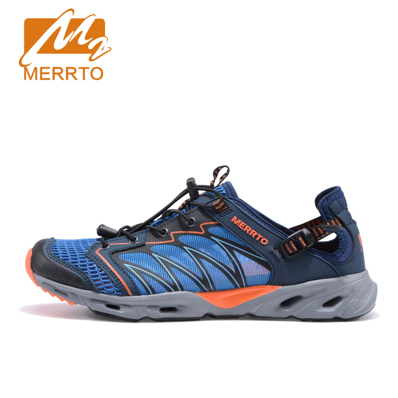 MERRTO Men Trekking Shoes Brethable Walking Mountain Hiking Shoes Summer Sandals Men Outdoor Aqua Water Shoes Sports Sneakers