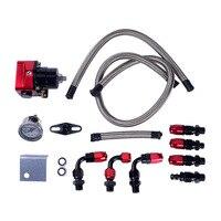 6 EEN Brandstofdrukregelaar FRP Verstelbare Brandstofdrukregelaar met Gauge Slang End Met 6AN Olie Slang Fitting Adapter
