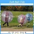 Envío Libre TPU Fútbol Burbuja 1.2 m Rojo o Azul, Bola descabellado, cuerpo Zorb Bola de Parachoques Para Los Niños