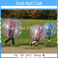 Free Shipping TPU Bubble Football 1.2m Red or Blue, Loopy Ball, Body Zorb Bumper Ball For Kids