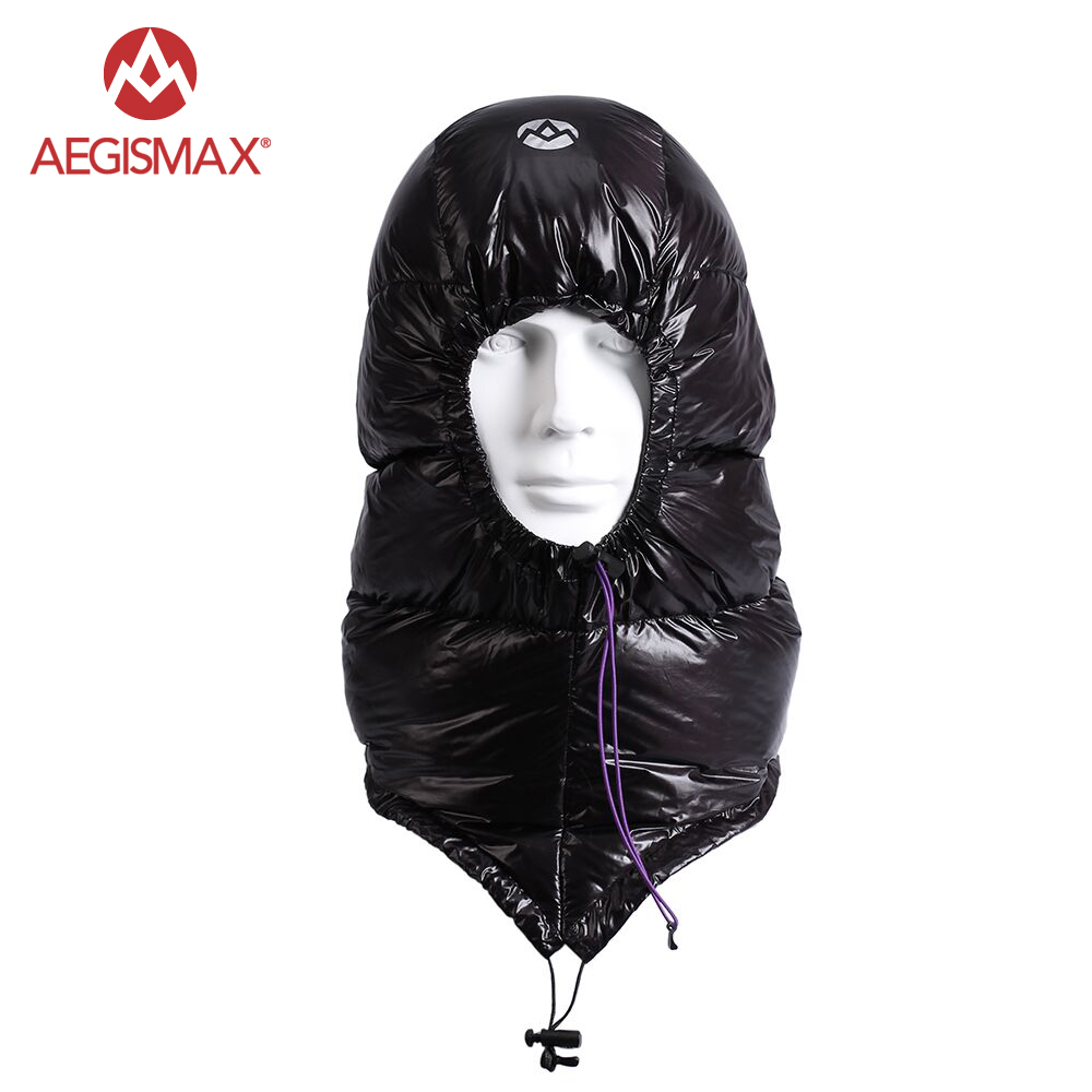 AEGISMAX Outdoor Urltra-Light Goose Dow Hat for Envelope Sleeping Bag