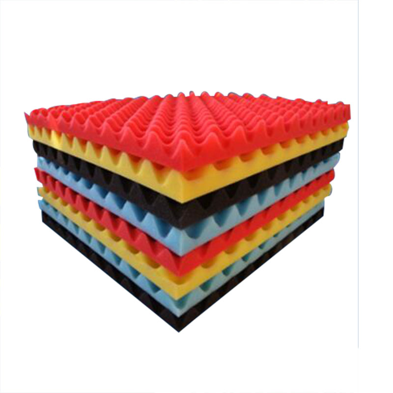 50x50cm Wall Mount Sound Absorber Acoustic Proofing Isolation For Bar Studio Soundproof Foam Acoustic Soundproofing Random Color