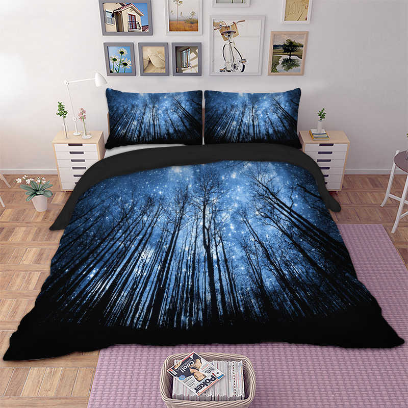 Black Gothic Poker Skull printed Duvet / Quilt Cover Twin Full Queen King Double sizes Bedding Set Butterfly bed linens set 3pcs