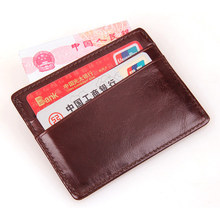 8101C JMD Free Shipping 100% Genuine Cow Leather Credit Card Holder Womens Slim Case Mens ID