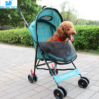1Foldable Pet Stroller Portable Dog Cat Trolley with Large Mesh Window Breathable PetCarrier Aluminum Alloy Frame10kg Bearing