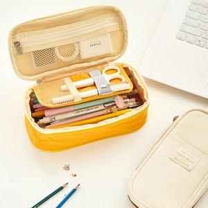 Image 4 - 2019  Storage Organizer Canvas Large Capacity Bag Holder Storage Bags Case Multifunctional Zipper School Portable Pencil Case