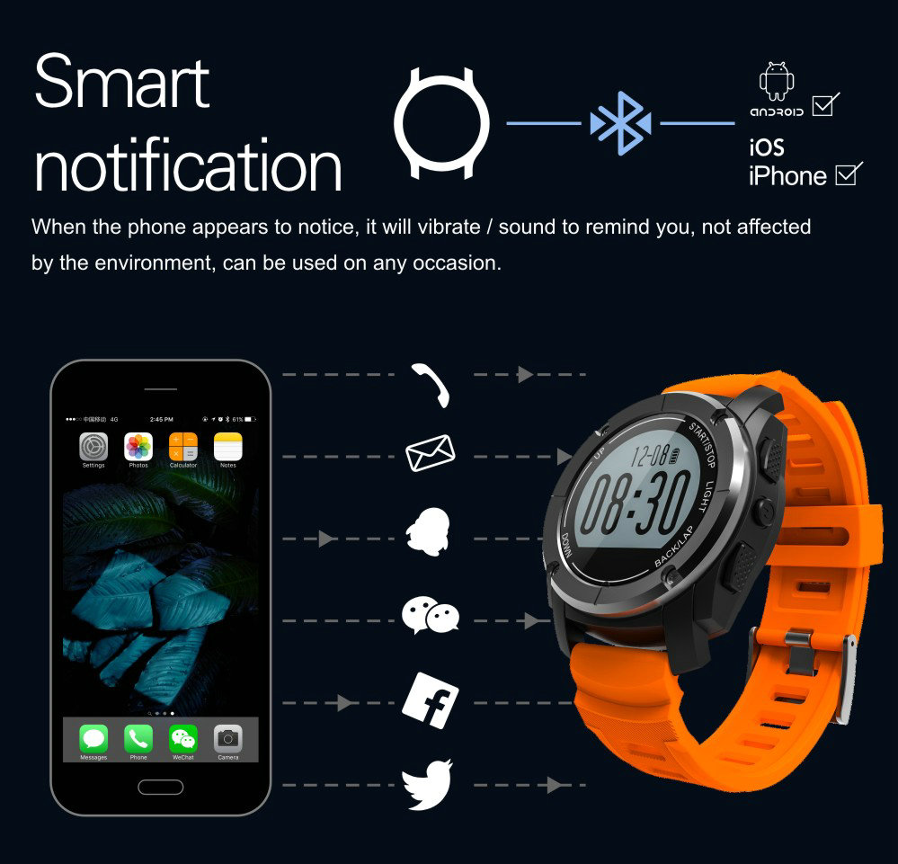 Greentiger GPS Outdoor S928 Smart Watch Heart Rate Monitor Smart Wristband Sport Smartwatch for Android IOS Phone 20